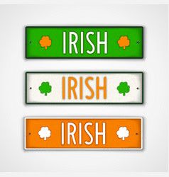irish lettering design vector image