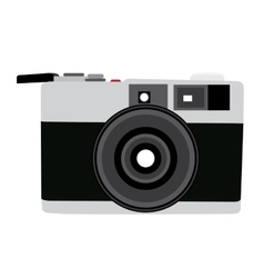Isolated retro camera vector