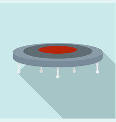 jump trampoline icon flat style vector image