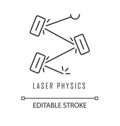 Laser physics linear icon quantum electronics vector