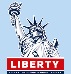 Liberty statue usa symbol nyc vector