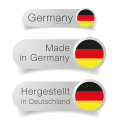 made in germany label flag set vector image