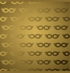 Masquerade mask golden gradient seamless pattern vector