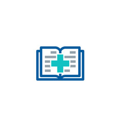 medical book logo icon design vector image