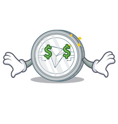 Money eye tron coin character cartoon vector