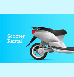 moto scooter bike rental service banner design vector image