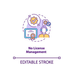 No license management concept icon vector