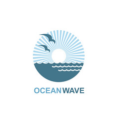 Ocean icon design vector