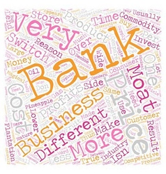 On Banks text background wordcloud concept vector image