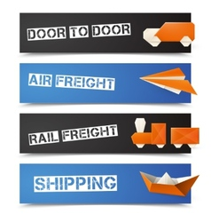 Origami Logistic Banners vector image