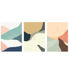 paper collage with japanese wave pattern vector image