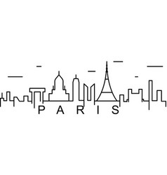 paris outline icon can be used for web logo vector image