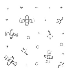 Pattern space satellites with antennas and vector