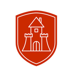 protection house symbol security house sign vector image