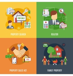 Real Estate Flat Set vector image