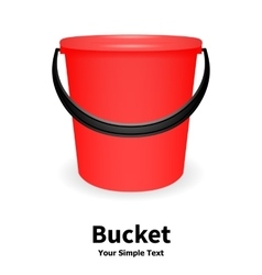 red bucket vector image