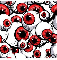 Red eyes vector