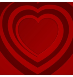 Red spiral heart vector