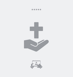 religious services concept - minimal flat icon vector image
