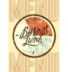 Restaurant menu typographic design vector