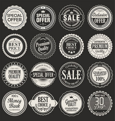 retro labels and badges 2 vector image