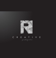 ri r i letter logo with zebra lines texture vector image