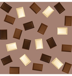 seamless background with black and white chocolate vector image vector image