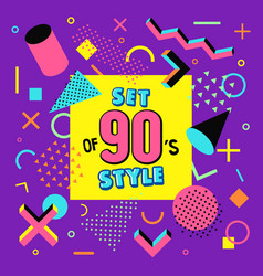 Set design of 90s style vector