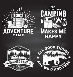 set outdoor adventure inspirational quote vector image