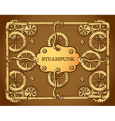 Steampunk style frame vector