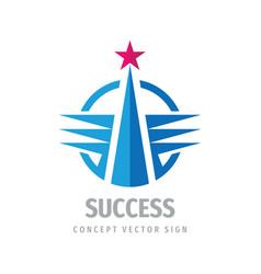 success business logo template design progress vector image
