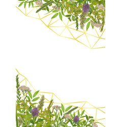 Template with greenery vector