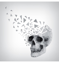 Triangle human skull vector