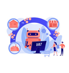 Value added tax system concept vector