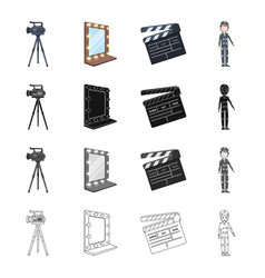 Video camera screen and other web icon in vector