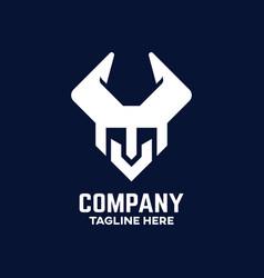 viking letter v logo vector image