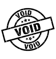 Void round grunge black stamp vector