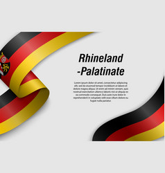 Waving ribbon or banner with flag state germany vector