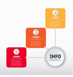 web template diagram with 3 options vector image