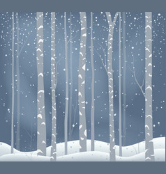 winter holiday background snowy landscape vector image