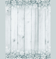 Wooden grey christmas background with white vector