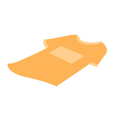 yellow t-shirt isolated on white background vector image