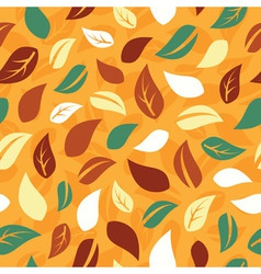 Autumn seamless pattern with leafs vector image