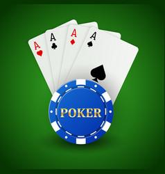 casino poker background vector image
