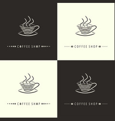 coffee shop-set vector image