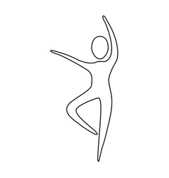 figure person dancing icon vector image vector image