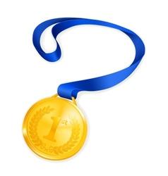 Gold medal vector