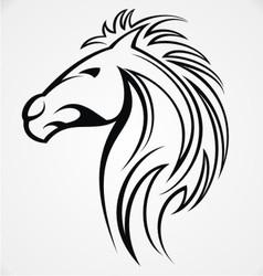 Horse Head Tattoo Design vector image vector image