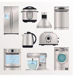 kitchen electronic appliances icon set vector image