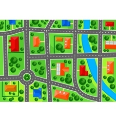 Map of suburb town vector image vector image